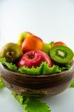 Frutti su un fondo bianco Fotografia Stock Libera da Diritti