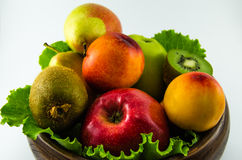 Frutti su un fondo bianco Fotografia Stock