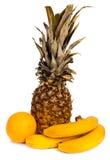 Frutti tropicali luminosi isolati su fondo bianco Fotografia Stock Libera da Diritti