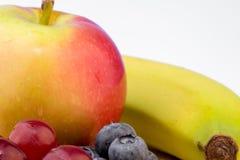 Frutti, uva, mele, mirtillo Fotografia Stock