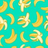 Fruttifica il vettore senza cuciture dei modelli della banana Immagini Stock Libere da Diritti