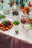 Fruttifica la pesca arancio dell'uva del kiwi Fotografia Stock Libera da Diritti