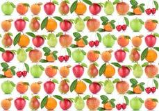 Fruttifica le arance arancio Cher dell'albicocca delle mele della frutta della mela del fondo Fotografie Stock Libere da Diritti