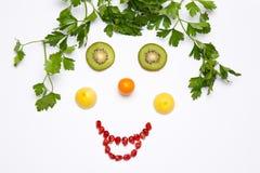 Fruttifica un sorriso Fotografia Stock Libera da Diritti