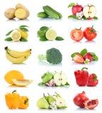 Fruttificano molte frutta e pera della mela isolata raccolta delle verdure Fotografia Stock Libera da Diritti