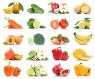 Fruttificano molti frutta e orango della mela isolato raccolta delle verdure Fotografie Stock Libere da Diritti