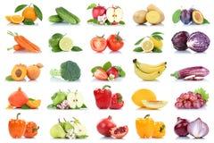 Fruttificano molti frutta e orango della mela isolato raccolta delle verdure Immagini Stock