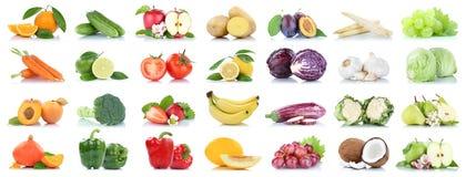 Fruttificano molti frutta e orango della mela isolato raccolta delle verdure Fotografia Stock