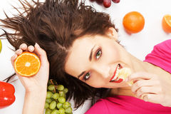 Frutty girl Royalty Free Stock Image