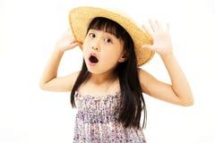Förvånad liten flicka Fotografering för Bildbyråer