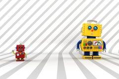 Förvånad robotkompis Arkivfoton