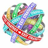 Förväxlande väg för utgångsstrategi ut ur avtalsplan Arkivbild