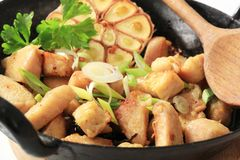 fry цыпленка подготовляя stir Стоковое Изображение
