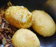Fry Akelokeki. Fried Onions mixed Fry Akelokeki From duck eggs Royalty Free Stock Photos