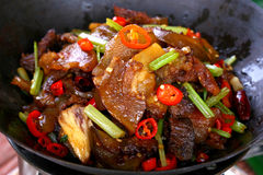Fry asian food Stock Photos
