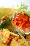 Fry Asian Food-crab Royalty Free Stock Photography