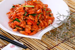 Fry asian food shrimp Stock Images