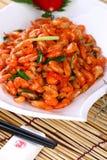 Fry asian food shrimp Royalty Free Stock Photos