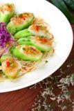 Fry asian food-towel gourd Stock Photos