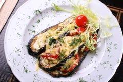 Fry aubergine Stock Photo