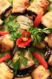 Fry aubergine Stock Image