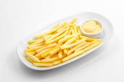 Fry baked with sauce Royalty Free Stock Photography