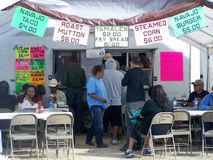 Fry Bread/Mutton Stew. Northern Navajo Nation Fair, Shiprock, NM Stock Images