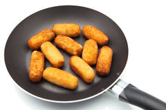 Fry croquettes Royalty Free Stock Photo