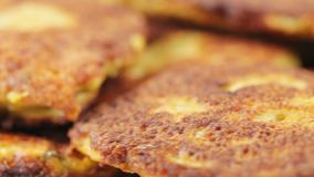 Fry cutlet from caviar stock video footage