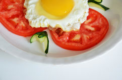 Fry egg stock photography