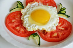 Fry egg. With fresh egg Royalty Free Stock Images