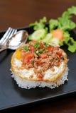 Fry Egg Rice Stock Photos