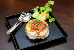 Fry Egg Rice Royalty Free Stock Photo