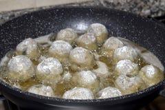 Fry  of meatballs Stock Photo