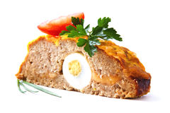 Fry minced meat roll. Stock Images
