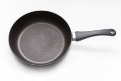 Fry Pan. On a white studio background Royalty Free Stock Image
