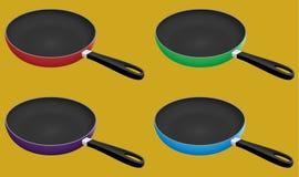 Fry pan vector illustration royalty free stock photo