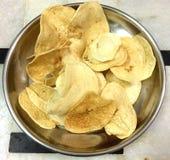 Fry potato chips Stock Photos