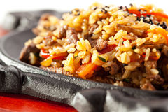 Fry Rice with Beef Royalty Free Stock Photography