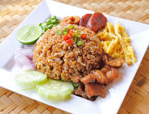 Fry rice with the shrimp paste Stock Photography