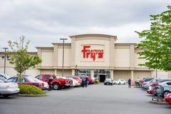 Fry's Electronics store entrance stock photos