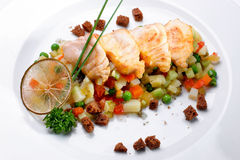 Fry salmon Royalty Free Stock Photo