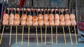 Fry sausage Stock Photo