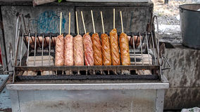 Fry sausage Royalty Free Stock Photography