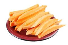 Cutted sweet potatoes Stock Photography