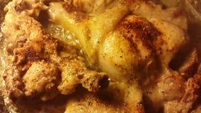 Fry a turkey in a frying pan, stew turkey meat.  stock footage
