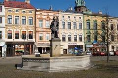 Frydek square - fountain Royalty Free Stock Photo