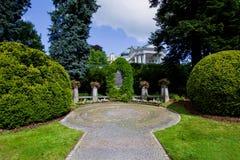 Fryderyk肖邦纪念碑-在主要柱廊附近在Marianske Lazne -捷克 免版税库存图片
