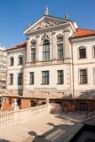 Fryderyk Chopin Museum i Warszawa arkivbild