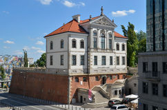 Fryderyk Chopin Museum (Ostrogski Castle) in Warsaw (Poland). Built in the second half of the seventeenth century later rebuilt several times. Since 1854 belongs Stock Photo